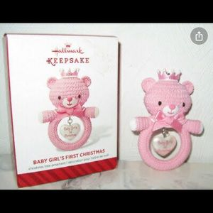 Hallmark Keepsake Baby Girls First Christmas 2014